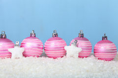 argb background balls blue christmas lights snow Στοκ φωτογραφίες με δικαίωμα ελεύθερης χρήσης