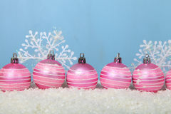 argb background balls blue christmas lights snow Στοκ εικόνες με δικαίωμα ελεύθερης χρήσης