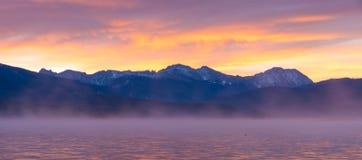 argb mazury misty λιμνών πέρα από την ανατολή της Πολωνίας Στοκ Εικόνες