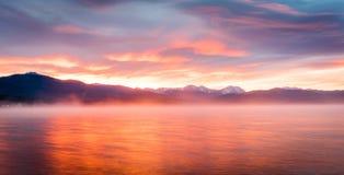 argb mazury misty λιμνών πέρα από την ανατολή της Πολωνίας Στοκ εικόνα με δικαίωμα ελεύθερης χρήσης
