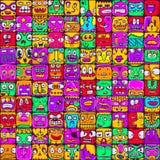 Arge套设计的100张不同面孔 免版税库存图片