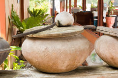 Arge earthenware water container ,Jug Stock Image