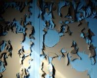 Arge grunge Wandbeschaffenheiten Lizenzfreie Stockbilder
