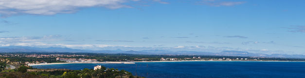 Argeles Plage panorama Royalty Free Stock Photo