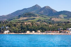 Argeles-sur-Mer Πυρηναίο-Orientales στο τμήμα, περιοχή του Λανγκντόκ-Ρουσιγιόν, στη νότια Γαλλία Στοκ φωτογραφία με δικαίωμα ελεύθερης χρήσης