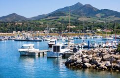 Port Argeles-sur-Mer in Pyrenees-Orientales department, Languedoc-Roussillon region, in so. ARGELES SUR MER, FRANCE - JULY 9, 2016: Port Argeles-sur-Mer in royalty free stock images