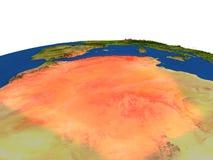 Argelia en rojo de la órbita stock de ilustración