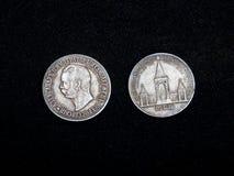 Or argenté russe de vieil argent de pièce de monnaie rétro Photographie stock
