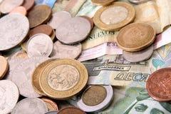 argent étranger d'assortiment Images libres de droits