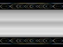 Argent abstrait de fond métallique Images stock