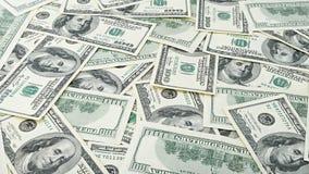 Argent américain de fond de papier peint cent billets d'un dollar Beaucoup billet de banque des USA de 100 Photo libre de droits