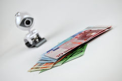 argent au-dessus de montre Photos stock