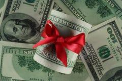 Argent aux dollars américains Photo libre de droits