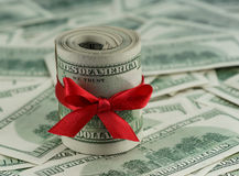 Argent aux dollars américains Photographie stock libre de droits