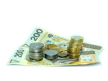 Argent - billets de banque et pièces de monnaie Photos libres de droits