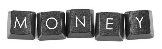 Argent - boutons de clavier Photo libre de droits