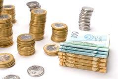 argent brésilien Photos libres de droits