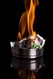 Argent brûlant Image libre de droits