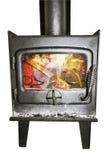 Argent brûlant en cheminée Photo stock