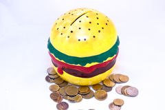 Argent-cadre dans la forme de l'hamburger photo libre de droits