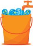 Argent Card_eps de l'eau d'économie illustration stock