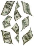 Argent. Cents billets d'un dollar États-Unis. Image stock