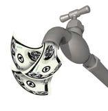 argent circulant de robinet à l'extérieur Image stock