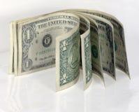 Argent comptant américain d'isolement du dollar Images libres de droits