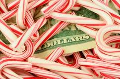 Argent comptant d'argent de Noël Photo stock
