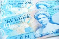 Argent comptant de la Nouvelle Zélande Photographie stock libre de droits