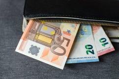 Argent comptant, euro Images libres de droits