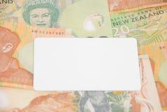 Argent comptant ou crédit de la Nouvelle Zélande Images stock