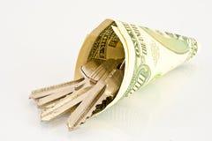 Argent comptant pour acheter une maison Image stock