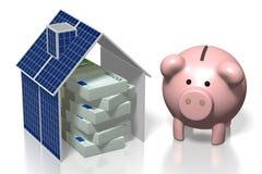 Argent, concept de panneaux solaires Photos libres de droits