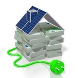 Argent, concept de panneaux solaires Images libres de droits