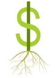 argent croissant Photo stock