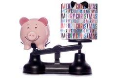 Argent d'économie à Noël photos stock