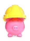 Argent d'économie dans l'entreprise de construction Image libre de droits