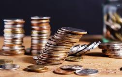 Argent d'économie et concept de finances d'opérations bancaires de compte image libre de droits