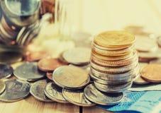 Argent d'économie et concept de finances d'opérations bancaires de compte photographie stock