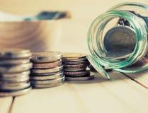 Argent d'économie et concept de finances d'opérations bancaires de compte images libres de droits