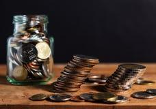 Argent d'économie et finances d'opérations bancaires de compte, concept de faillite photo stock