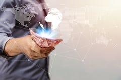 Argent d'économie et opérations bancaires de compte pour le concept d'affaires de finances images stock