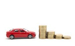 Argent d'économie pour un véhicule Photographie stock libre de droits