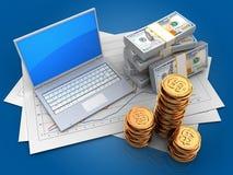 argent 3d Illustration Stock