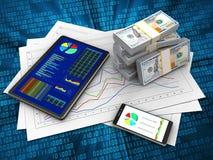 argent 3d Photographie stock