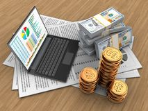 argent 3d Images stock