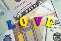 argent d'amour Photos libres de droits