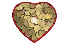 argent d'amour Photographie stock