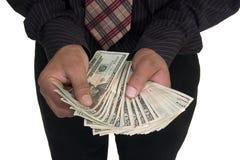 Argent d'argent comptant Image stock